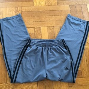 Adidas Boys Light Gray Mesh Sweatpants